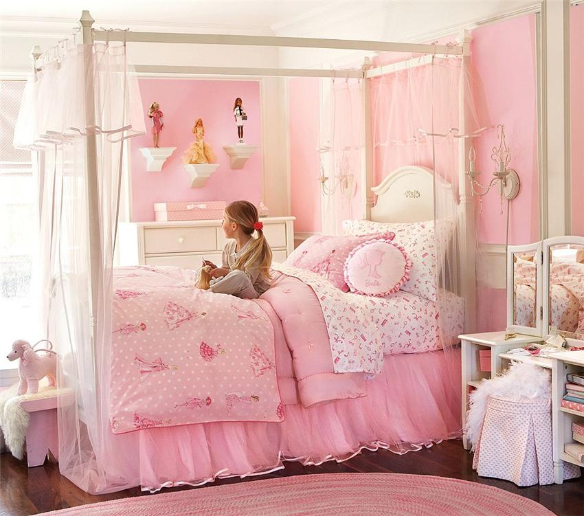Bedroom Bed Photo Glitter Bedroom Accessories Pink Accent Wall Bedroom Bedroom Bench Decor: Cuartos Decorados Para Niñas